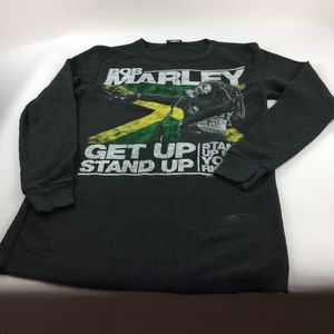 Zion Rootswear Bob Marley graphic thermal long slv